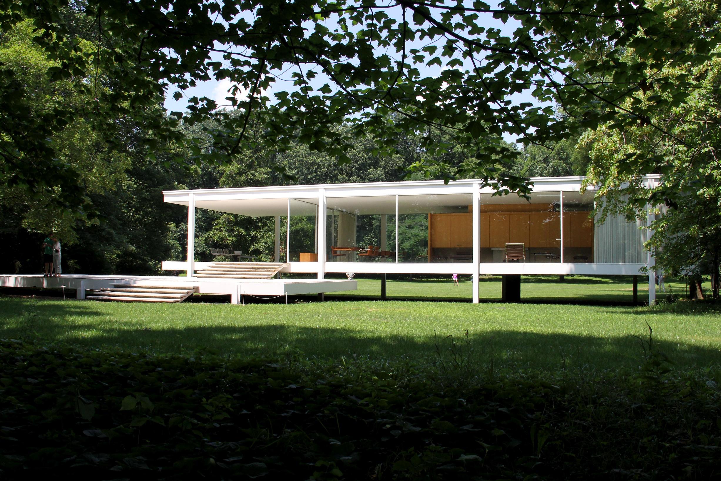 Veneer Kitchen Cabinets Farnsworth House 1951 Traverse360 Architecture