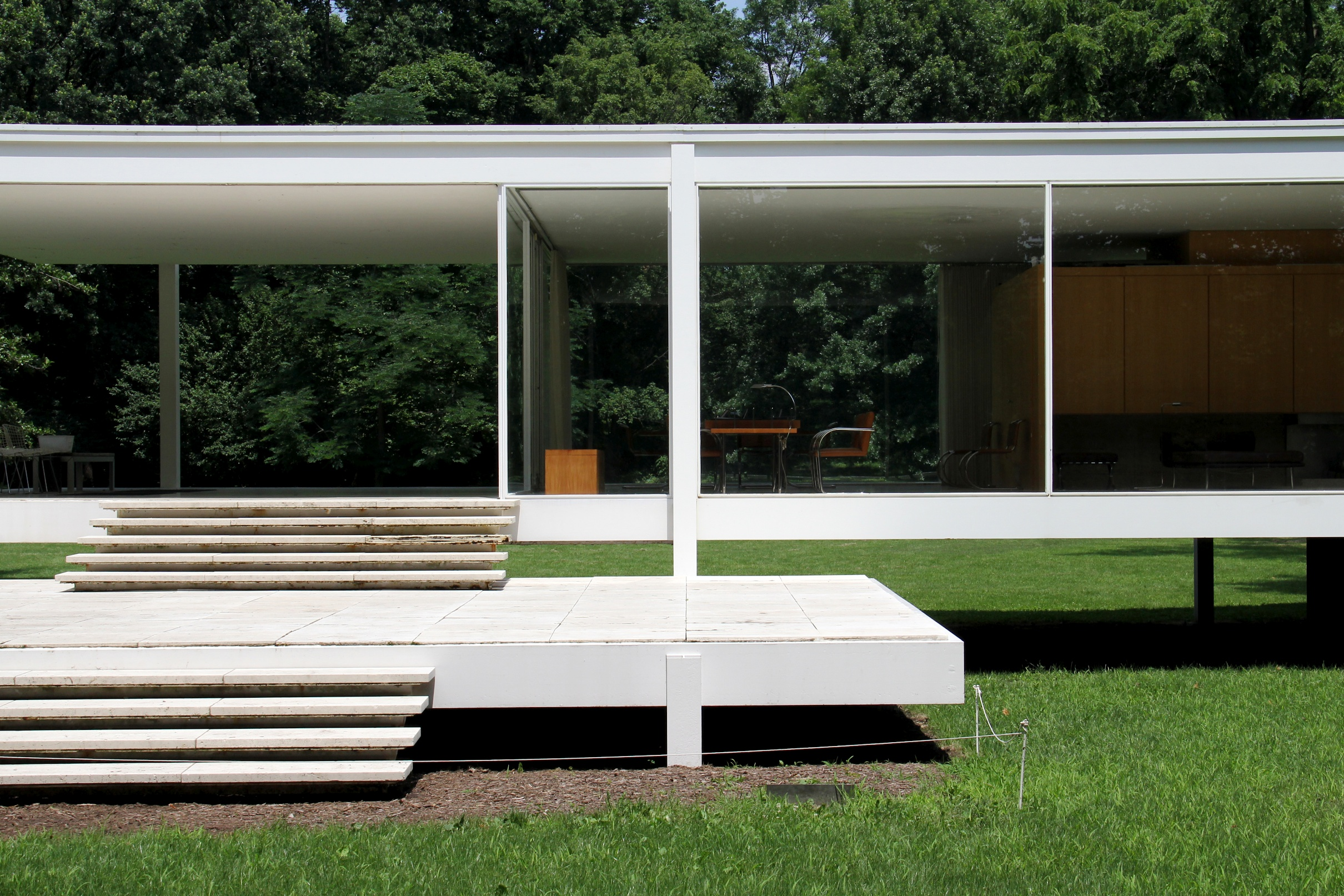 farnsworth house 1951 traverse360 architecture. Black Bedroom Furniture Sets. Home Design Ideas